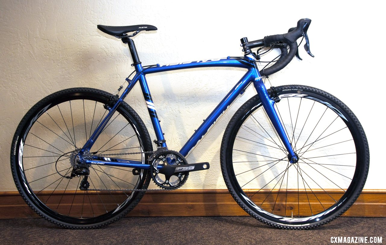 The $1100 Men\'s Sora-equipped Raleigh 2013 RX Cross Bike is an affordable way to get started in the sport. © Cyclocross Magazine