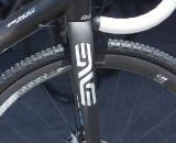 The ENVE Composites stem and carbon cyclocross disc fork with tapered steerer handle navigation duties. ©Cyclocross Magazine