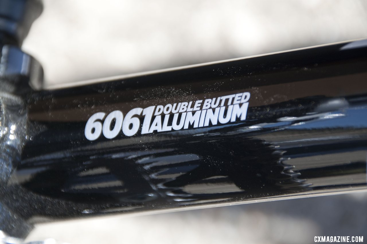 Redline uses 6061 double butted aluminum on the Conquest Disc. Sea Otter 2012. ©Cyclocross Magazine