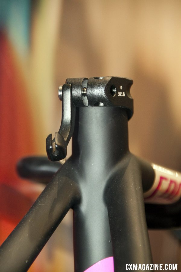 The seat-collar-mounted rear brake cable hanger combo can be swapped out to allow racers to use mini V-brakes without a hanger. ©Cyclocross Magazine