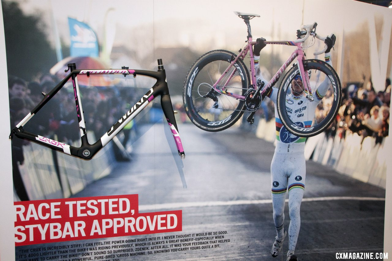 It might be a few months until we see him on it, but this frame will be Stybar\'s ride for 2012/2013. ©Cyclocross Magazine