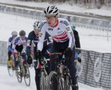 Jake Womersley of Great Britain on the frozen course © Nathan Hofferber