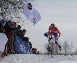 The frozen conditions suited the defending champion © Nathan Hofferber