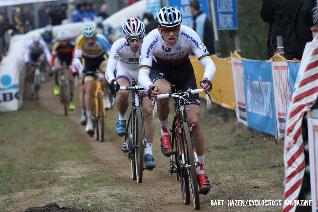 Zdenek Stybar pushing the pace. © Bart Hazen / Cyclocross Magazine