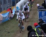 Lars van der Haar leading the field. © Bart Hazen / Cyclocross Magazine