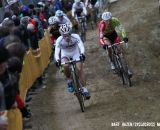 Lars van der Haar leading the group of lead riders. © Bart Hazen / Cyclocross Magazine