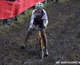 Nikki Harris negotiating the off-camber mud. © Bart Hazen / Cyclocross Magazine