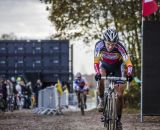 Sanne CANT (7,BEL) riding to finish 2nd