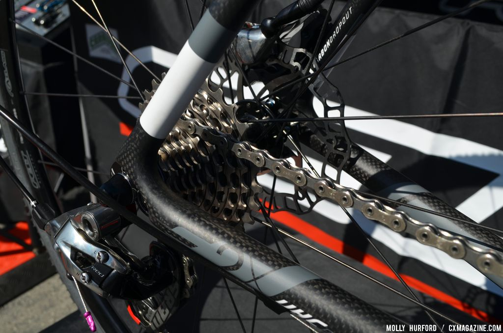 SRAM Red 22 on 2014 Felt F2X at Sea Otter 2013. © Cyclocross Magazine