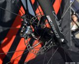 The rotors are specially made to keep from overheating 2014 Felt F2X at Sea Otter 2013. © Cyclocross Magazine