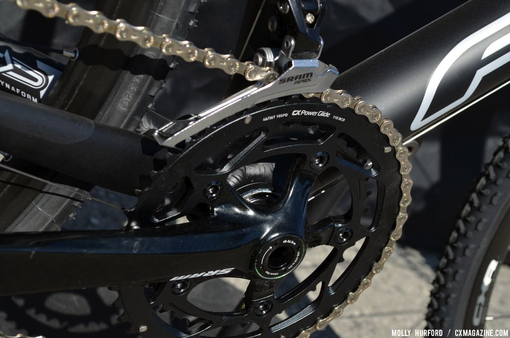 SRAM Apex crank 2014 Felt F65X at Sea Otter 2013. © Cyclocross Magazine