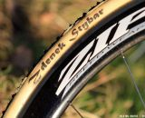 Dugast tubular tires, as used by 95% of the pros. This is a 33mm Typhoon.  © Thomas van Bracht / Cyclocross Magazine