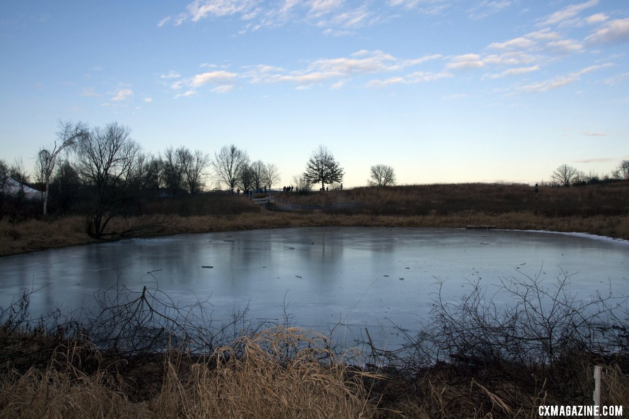 Frozen ponds greets the 2012 Cyclocross National Championships visitors. © Cyclocross Magazine