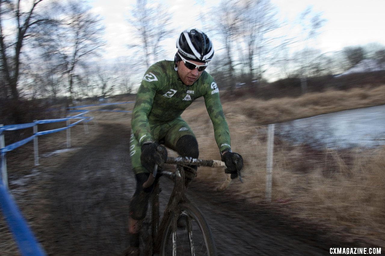 JT Fountain chasing in second. © Cyclocross Magazine