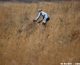 Tall grass makes for lonely stretches of riding. © Tim Westmore