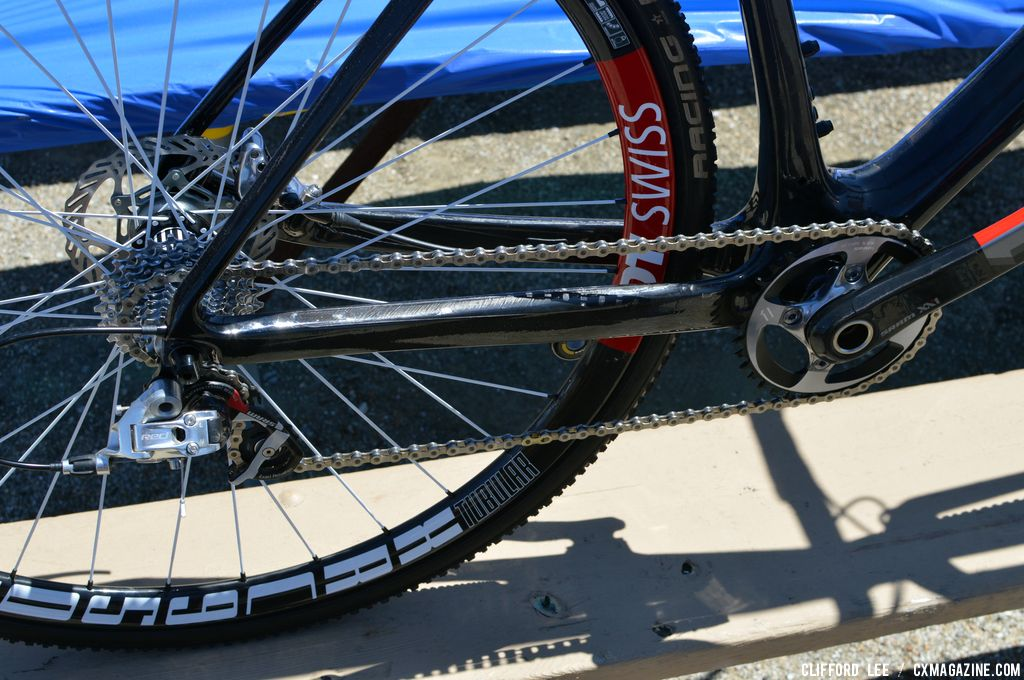 11X1 drivetrain on Adam Craig's Prototype Giant TCX Advanced - Sea Otter 2013. © Clifford Lee