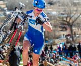 Georgia Gould races the 2014 USAC Cyclocross National Championships.  Gould finished 5th.
