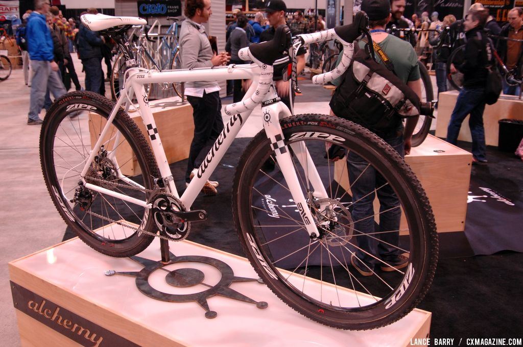 Nicole Duke\'s race bike, freshly painted, at NAHBS 2013. © Lance Barry