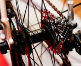 All-City Cycles uses Velocity hubs paired with NoTubes Iron Cross rims on both the Macho King and Macho King Limited, saying the Velocity hubs meet their standards and match their fixed gear background. © Cyclocross Magazine