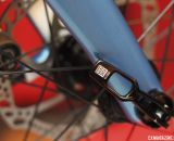A Rock Shox Maxle Lite keeps the Whisky No. 9 fork and Velocity hub aligned and rolling on the Macho King Limited. © Cyclocross Magazine