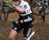 Mike Hemme (Chicago CX) is another Chicago rider battling the mud on Mt. Krumpet. © Amy Dykema
