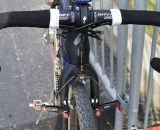 Arley Kemmerer prefers Ritchey Logic Pro handlebars despite plenty of Specialized options. © Cyclocross Magazine