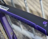 That's no blemish - but graphics on Arley Kemmerer's Specialized Crux Pro cyclocross bike. © Cyclocross Magazine
