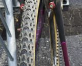 More old school: Challenge's timeless Grifo tubulars - Arley Kemmerer's Specialized Crux Pro cyclocross bike. © Cyclocross Magazine
