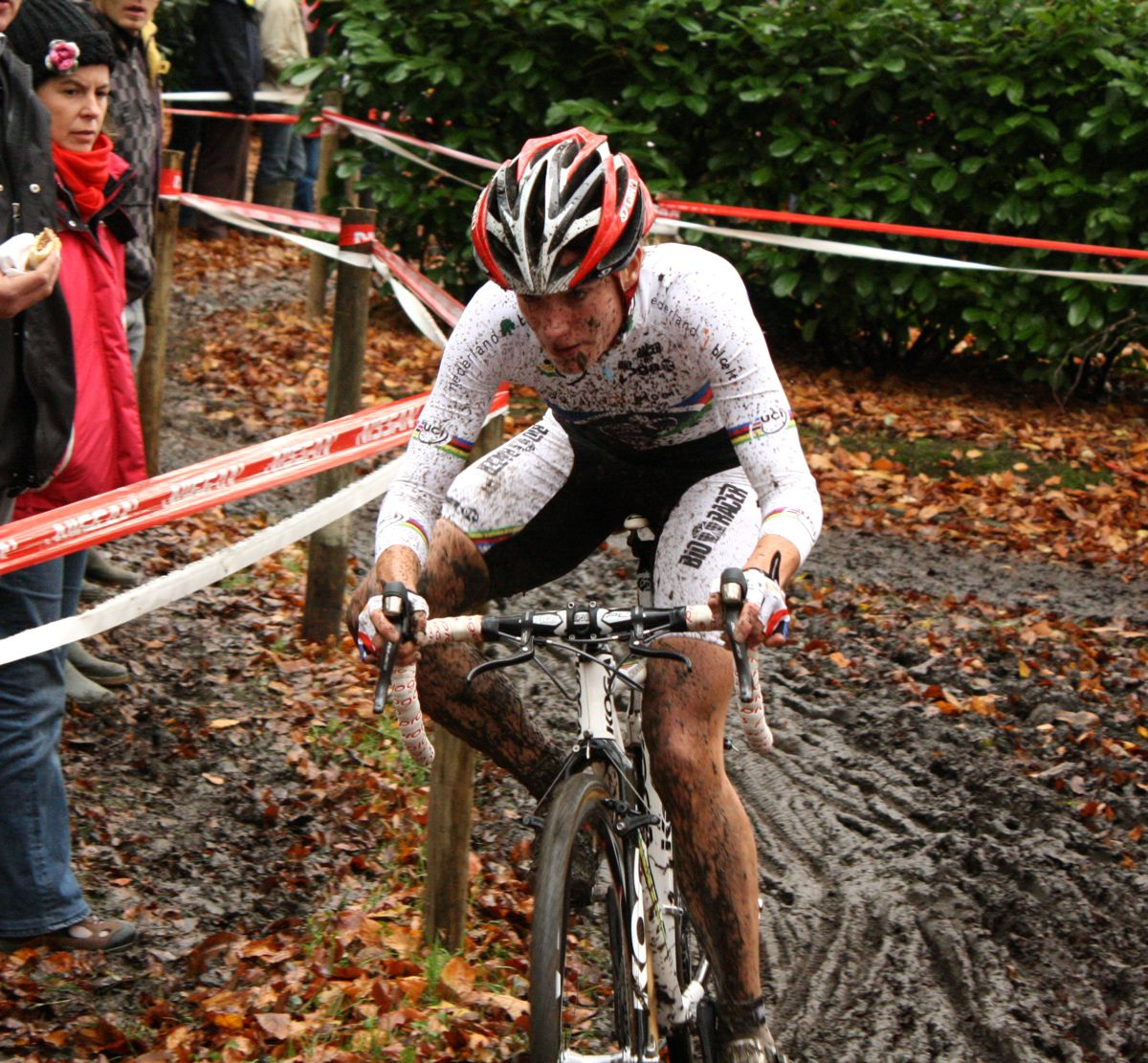 Marianne Vos rode well in the mud. ? Dan Seaton