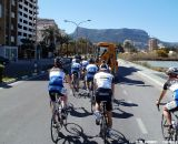 Jonas trailing the gang on a BABOCO group training ride © Christine Vardaros