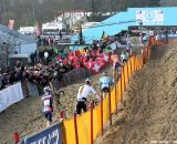 Up the hill at Junior Men at 2012 Worlds © Bart Hazen
