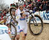 Pauwels leads Stybar through the sand. ©Bart Hazen