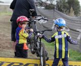 Future crossers perfecting their barrier technique.Bay Area Cyclocross © Vantage Velo