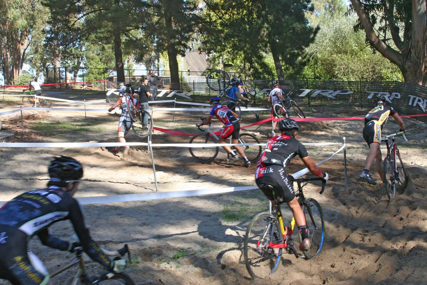 The route through the sand pit made it unrideable, much to the disappointment of eager Issue 7 readers. ?Cyclocross Magazine
