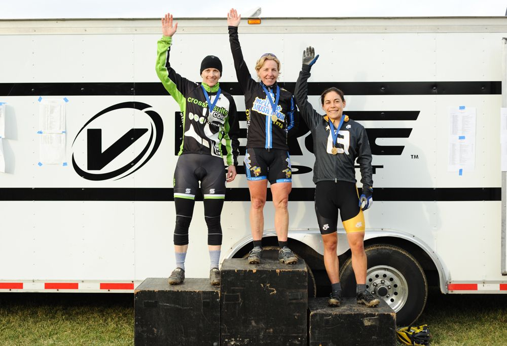 The Women's Podium (L to R): Annis, Van Gilder, Anthony. © Natalia Boltukhova | Pedal Power Photography | 2011