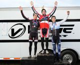 The Men's Podium (L to R): Gagne, McNicholas, Durrin © Natalia Boltukhova | Pedal Power Photography | 2011