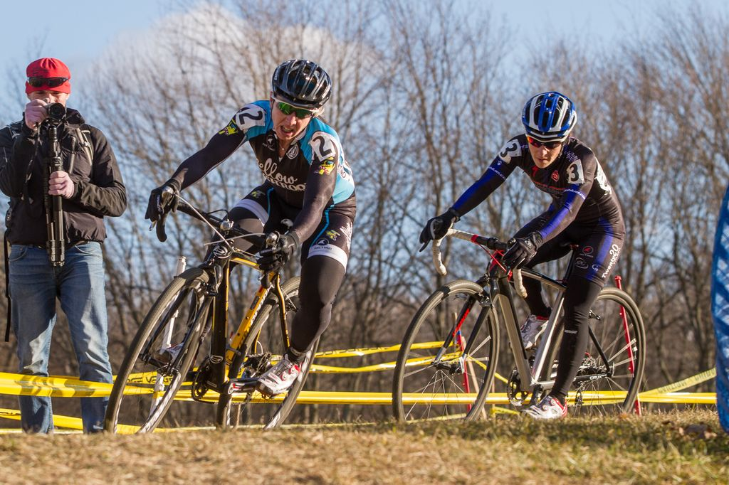 Van Gilder and Kemmerer battle the wind to try to gain time back from Anthony. © Todd Prekaski