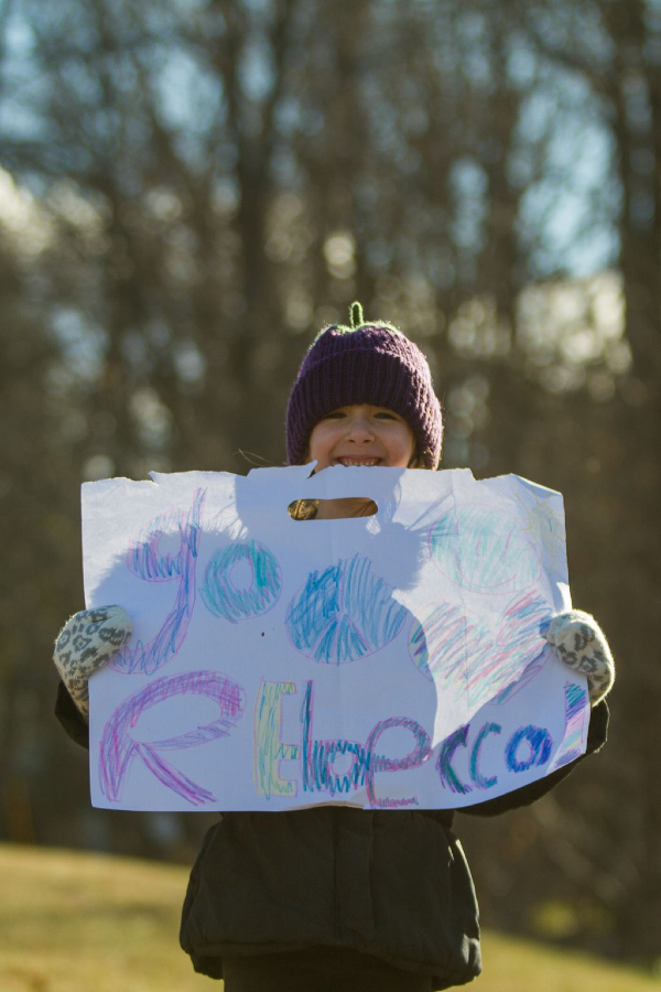 A young fan cheered for Rebecca Wellons. © Todd Prekaski