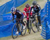 Kemmerer, Van Gilder, and Anthony sprint up a punchy climb, working to bring Anderson back. © Todd Prekaski