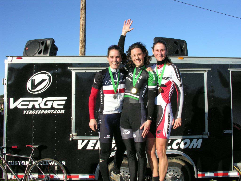 Elite Women Podium. Baystate Cyclocross, Day 1. ? Paul Weiss