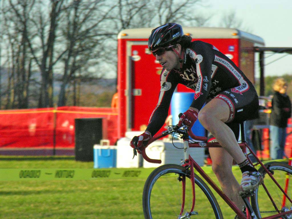 Josh Dillon continues to surprise in the the elite men's race. Baystate Cyclocross, Day 1. ? Paul Weiss