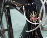 A handsome logo on a tapered head tube. Bianchi 2014 Zurigo. © Cyclocross Magazine