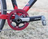 BBG bashguards sandwich the single 34 tooth chainring to ensure it stays in place. © Cyclocross Magazine