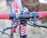 Tektro top mount brake levers add versatility to hand positioning. © Cyclocross Magazine