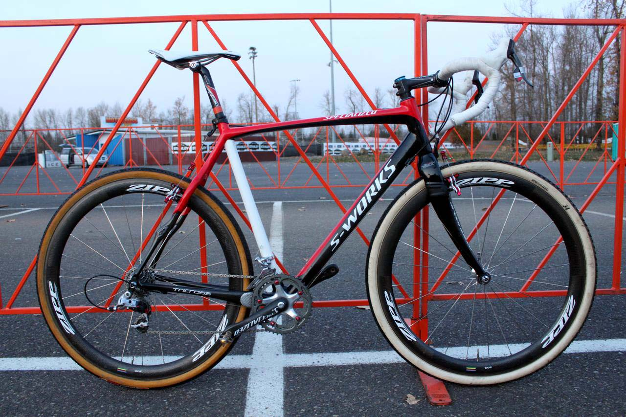 Todd Wells\' Specialized S-Works Tricross Carbon. ? Cyclocross Magazine