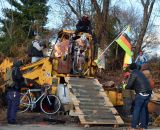 Standard salvage barrier at Bilenky Junkyard Cross. © Cyclocross Magazine