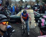 """Superman"" at Bilenky Junkyard Cross. © Cyclocross Magazine"