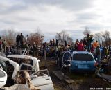 Thick crowds at Bilenky Junkyard Cross. © Cyclocross Magazine