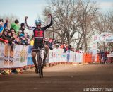 Lindine takes the win the Men's 30-34 race at National Championships 2014. © Mike Albright