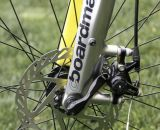 Boardman Bikes utilizes post-mount disc brake mounts, with 160mm rotor defaults. Cyclocross Magazine